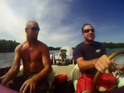 Jet boat ride - Crystal Lake Ontario