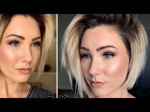 Natural makeup for green eyes and blonde hair