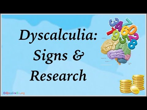 Dyscalculia Signs & Research by Dyscalculia.org