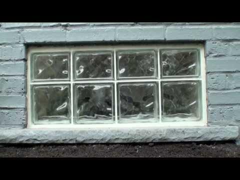 Glass Block Window Installation 2013