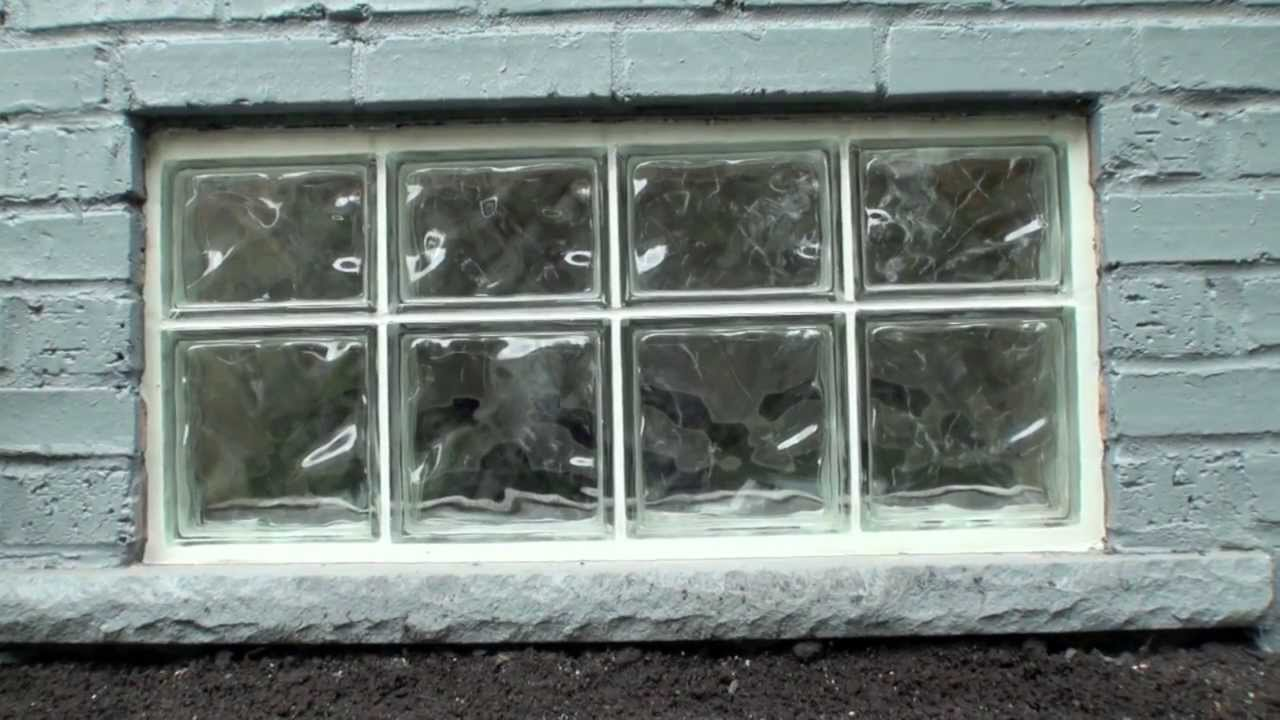 Glass Block Window Installation 2013 Youtube