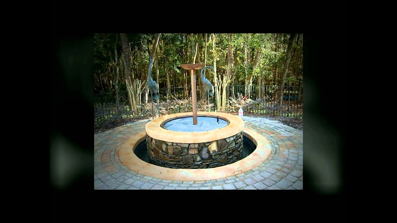 Gas Fire Pit And Water Fountain Port Orange Florida