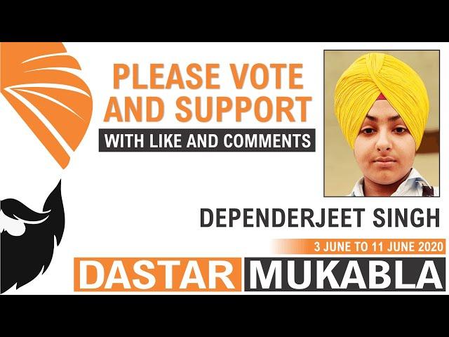 DEPENDERJEET SINGH  || Dhansikhi Dastar Mukabla || Dhansikhi Turban Tying Compitition 2020