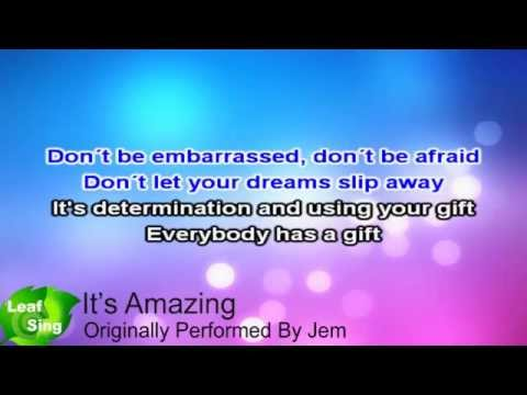 It's Amazing - Jem ( Karaoke Video Lyrics ) HD