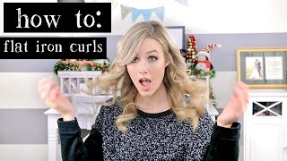 HOW TO : Flat Iron // Straightener Curls Thumbnail