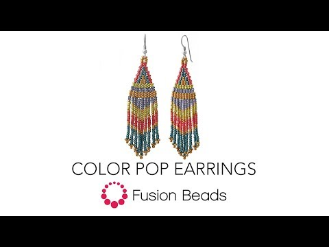 Let Katie show you how to bead the Color Pop Earrings by Fusion Beads