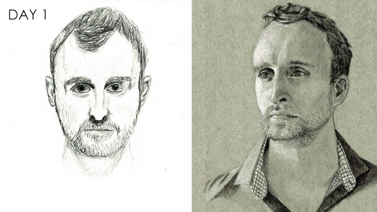 How to learn to draw portraits in pencil