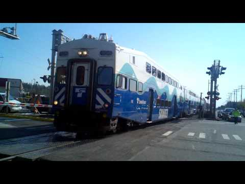 Sounder Commuter Train #1700 Departing Edmonds, WA on 4/22/2011