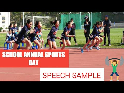 School Annual Sport day speech sample