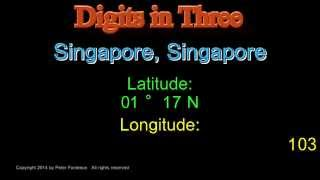 Singapore Singapore - Latitude and Longitude - Digits in Three
