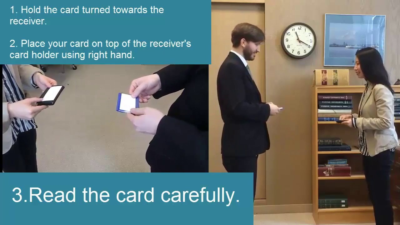 Business card exchange in Japan 名刺交換 - YouTube