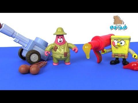 Пошаговая игра со Спанчем и другими персонажами Никелодеон