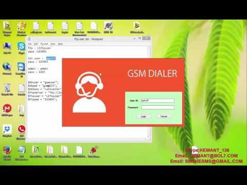 GSM Auto Dialer Program