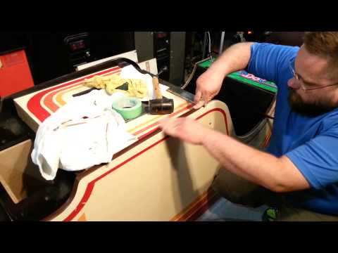 Repairing Cabinet Edge and Installing T-Molding on my Mr. Do! Arcade Cabinet