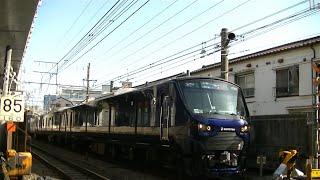 相鉄12000系12102F&JRE233系ハエ110編成 西大井駅付近の踏切通過