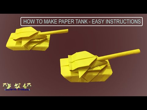 How to Make Paper Military Tank | Origami Tank | DIY Art