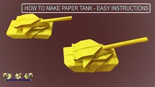 How to Make Paper Military Tank | Origami Tank | DIY Art