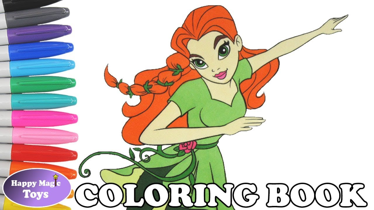 DC Super Hero Girls Poison Ivy Coloring Book Pages Superhero Kids Art