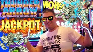 New THUNDER ARROW Slot Machine HANDPAY JACKPOT | New Dancing Drums Slot Machine BIG WIN