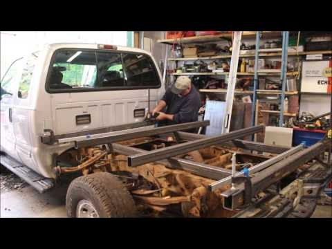 Fabricating a steel flat bed for a Ford F-350 Part 1 of 3