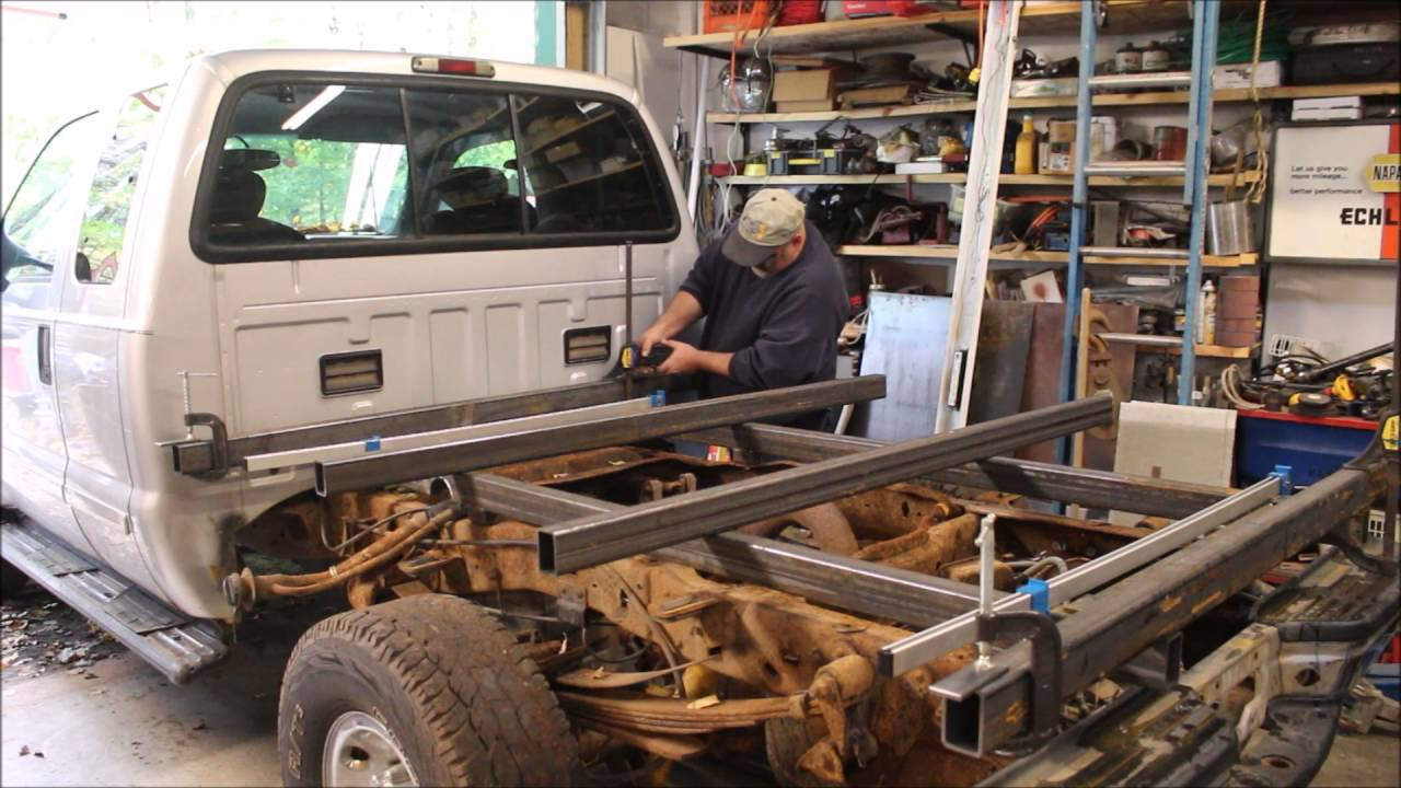 small resolution of fabricating a steel flat bed for a ford f 350 part 1 of 3