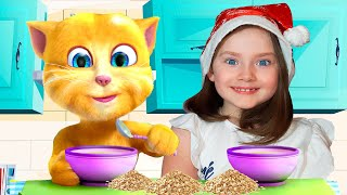 Liza and talking Ginger cat | SKORIKI