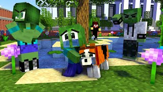 Monster School: Poor Dog and Baby Zombie Life(Sad Family Story but Happy Ending -Minecraft Animation