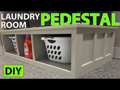 DIY Laundry Room Pedestal