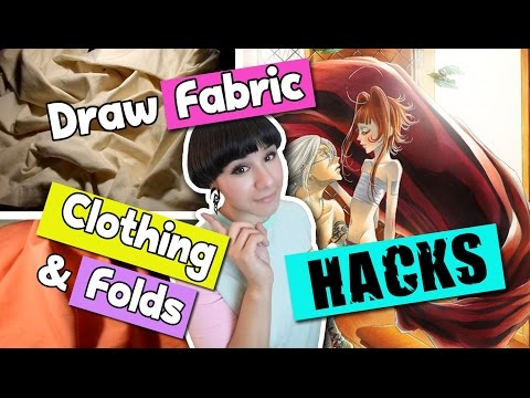 ▼ HACKS on How to Draw FOLDS EASILY ▼ FABRIC & CLOTHING ▼Artist Life Hacks