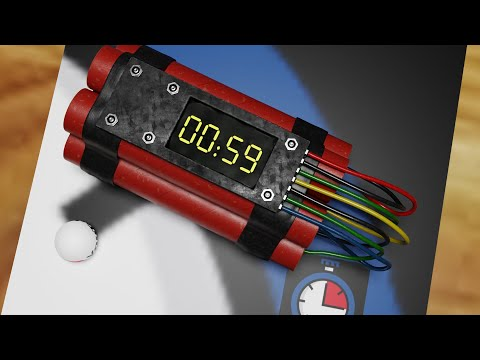 1 Minute Timer Bomb with Music, Alarm and Explosion 💣⏰🔔🎵