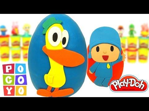 Huevos Sorpresa de Pocoyó y Pato en Español de Plastilina Play Doh