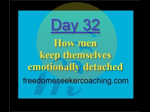 Emotional detachment in men