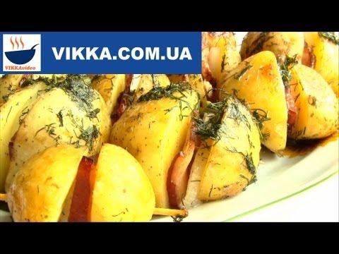 КАРТОШКА  по УКРАИНСКИ запеченная в духовке рецепт-VIKKAvideo