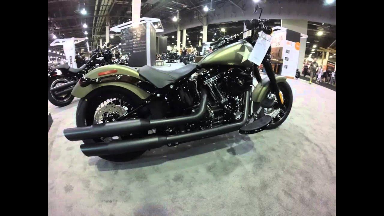 Harley Davidson Slim >> 2016 Softail Slim S 110 Screamin Eagle Harley-Davidson Olive Gold Denim - YouTube