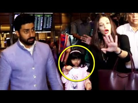 Angry Aishwarya Rai Bachchan Lashes Out For Continously Clicking Pictures  At Airport