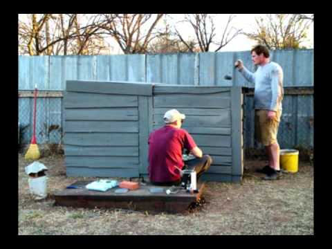 Building A Pallet Shed For Lawn Mower   SimeonHendrix.com