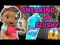 BABY ALIVE SNEAKS to the STORE! GETS a TREAT! The Lilly and Mommy Show! The TOYTASTIC Sisters.