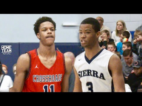 Cassius Stanley Vs. Shareef O\'Neal! Was Too LIT! Sierra Canyon vs. Crossroads