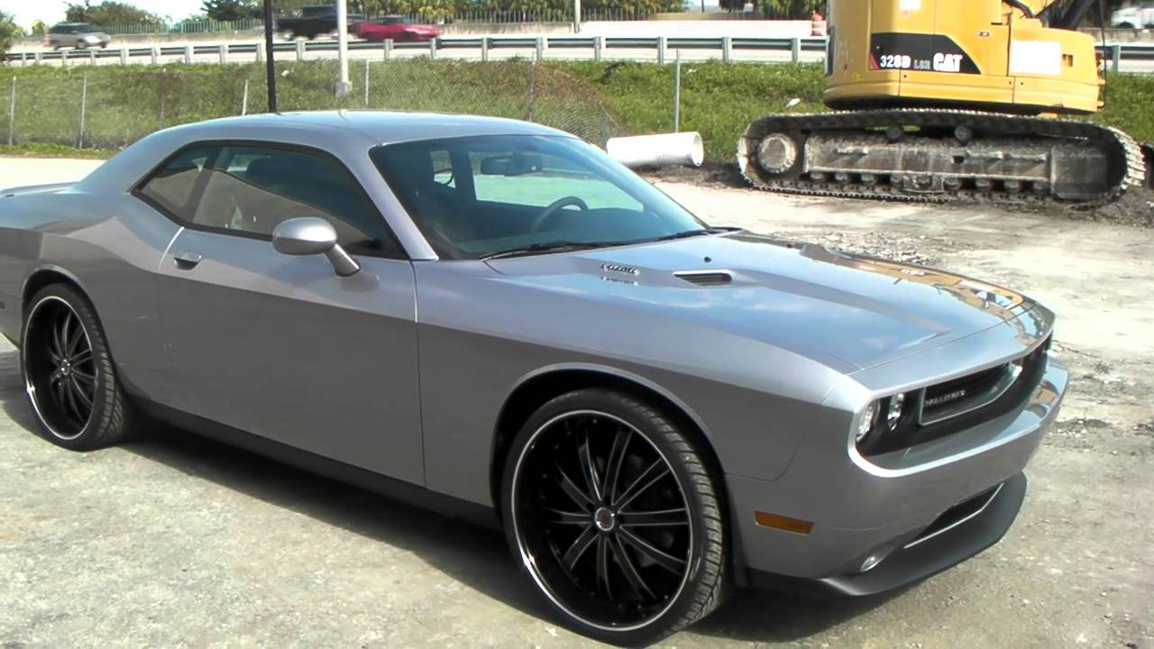 Dodge Challenger 24 Inch Rims >> Dubsandtires Com 24 Inch Red Sport Rw 77 Black Machine Wheels 2014