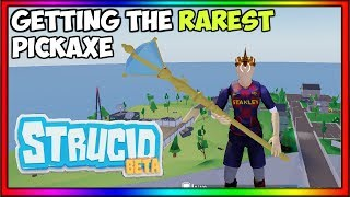 So I got the rarest strucid pickaxe.... *Champion Scepter* (Roblox Fortnite)