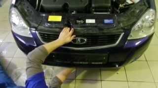 видео Как снять передний бампер на Приоре