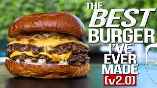 Download lagu THE BEST BURGER I'VE EVER MADE (v2.0) | SAM THE COOKING GUY 4K
