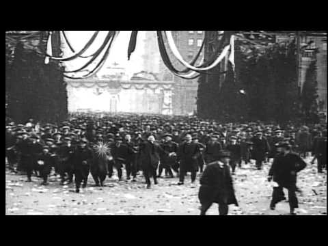 Armistice brings WWI fighting to an end, on November 11, 1918. German troops surr...HD Stock Footage