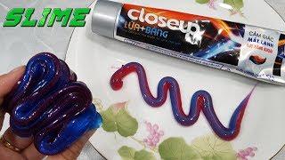 Cách Làm Slime Kem Đánh Răng Lửa Băng | Making Slime Toothpaste Fire And ICE