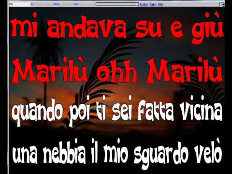 Nicola Arigliano - Marilù - karaoke