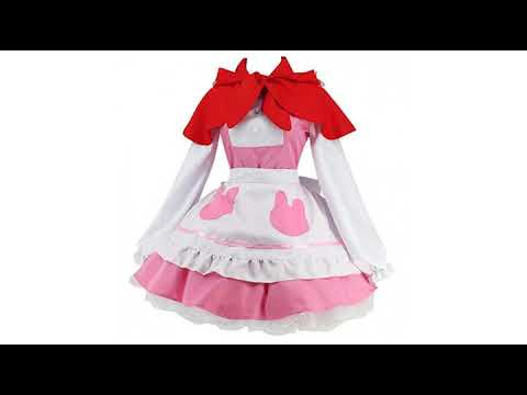 MUST SEE review for SuperHero/Cosplay !! Ainiel Women's Anime Cosplay Lolita Skirt Full Set with..