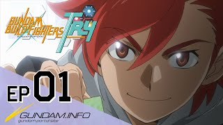 GUNDAM BUILD FIGHTERS TRY-Episode 1: The Boy Who Calls The Wind (ENG sub)