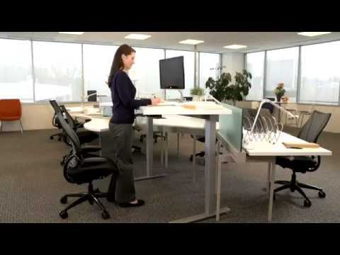 Provide Flexible Work Spaces With Humanscale's Sit-To-Stand Tables