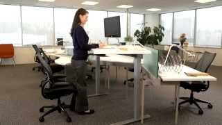 Float - Humanscale's Height Adjustable Sit-stand Table