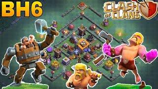 best builder hall 6(bh6) base/coc bh6 anti 1 star/anti 2 star trophy pushing base 2018/clash of clan